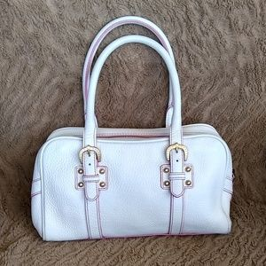 Dooney and Bourke White and pink purse